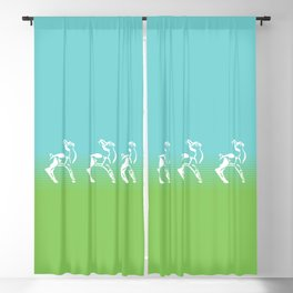 Spring is in the air deer Blackout Curtain