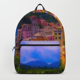 Village Life by the Sea Backpack