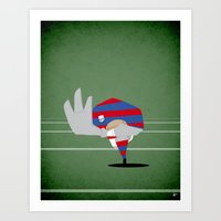 rugby Art Prints featuring Rugby by Osvaldo Casanova