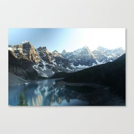 Scenic Snow Capped Mountains Canvas Print