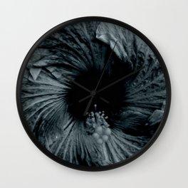 Hibiscus in Indigo Wall Clock