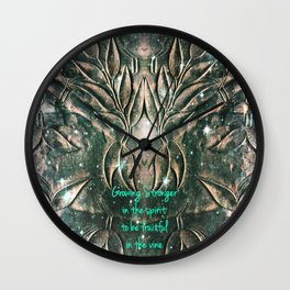 The Vine Wall Clock