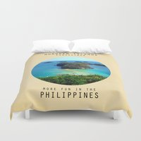 philippines Duvet Covers featuring Hundred Island by mewdew