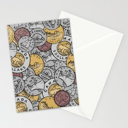 Canadian Coins Stationery Cards