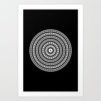 buddhism Art Prints featuring MANDALA IM ZÜRICH by THE USUAL DESIGNERS
