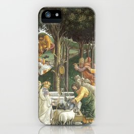 """Sandro Botticelli """"Youth of Moses"""", Sistine Chapel. iPhone Case"""