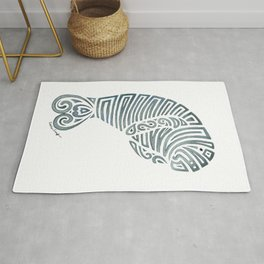 Tribal Manatee Rug