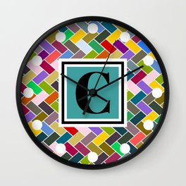 C Monogram Wall Clock