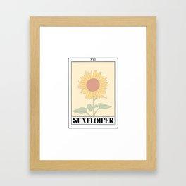 the sunflower tarot card Framed Art Print
