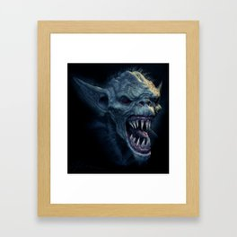 Screaming Demon Framed Art Print