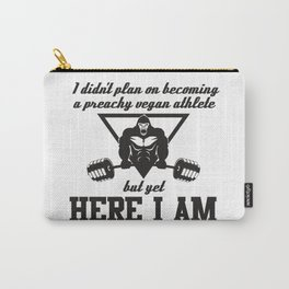 Preachy Vegan Athlete Gorilla - Funny Workout Quote Gift Carry-All Pouch