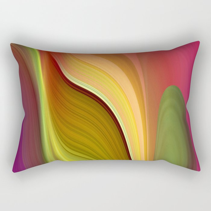 Tall And Short Colorful Abstract Rectangular Pillow