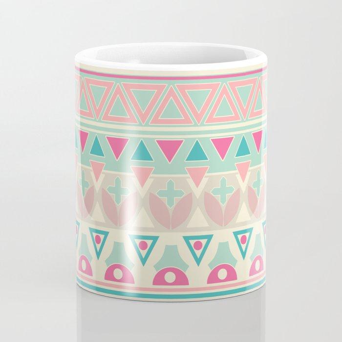 Ethnic , ornament , tribal , pastel Coffee Mug