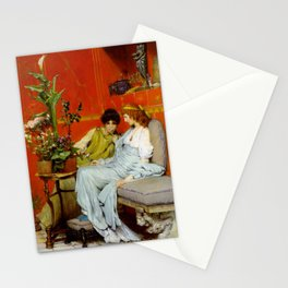Confidences 1869 by Sir Lawrence Alma Tadema | Reproduction Stationery Cards