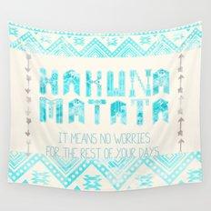 Hakuna Matata No Worries Wall Tapestry