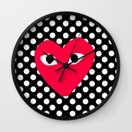 comme polkadot Wall Clock