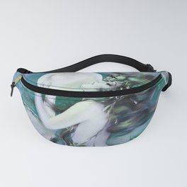 Mermaid with Pearl by Henry Clive periwinkle teal Fanny Pack