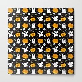 Halloween Pumpkin Ghost Trick Or Treat Candy Metal Print