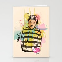 chaplin Stationery Cards featuring Chaplin by Dnl Villanueva