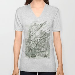 Shanghai. China. Street Unisex V-Neck
