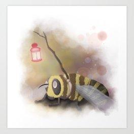 Enlighted Bee Art Print
