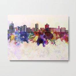 Acapulco skyline in watercolor background Metal Print