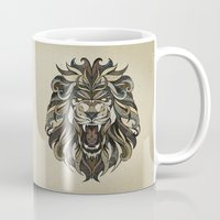 lion Mugs featuring Lion by Andreas Preis