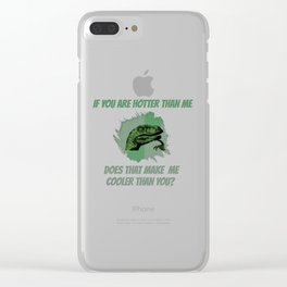 Cooler than Hot Clear iPhone Case