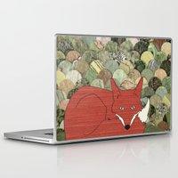 mr fox Laptop & iPad Skins featuring Mr. Fox by Elephant Trunk Studio