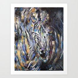 abstract zebra Art Print