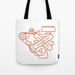 Minimalist Slant Six Engine Tote Bag