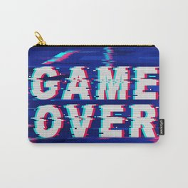 Game Over Glitch Text Distorted Carry-All Pouch