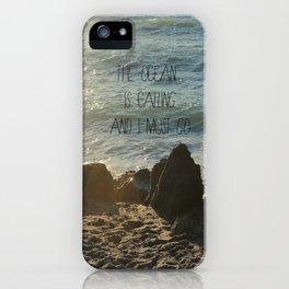 The Ocean is Calling iPhone Case