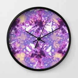 Tie-Dye Linen Bloom Wall Clock