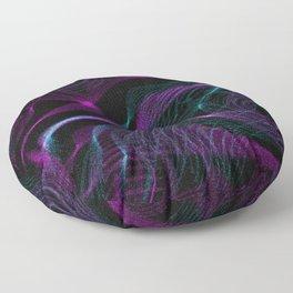 Neon Spins Floor Pillow