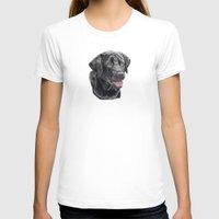 labrador T-shirts featuring Labrador retriever - black by Doggyshop