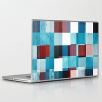 patriotic Laptop & iPad Skins featuring Patriotic Grid by plaidGecko