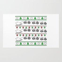 Cycling Christmas Rug