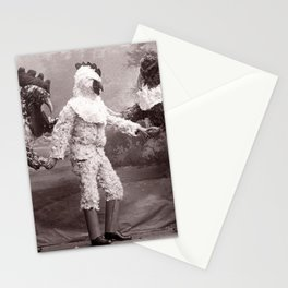 The Chicken Man That Came to Dinner Last Night black and white photograph Stationery Cards