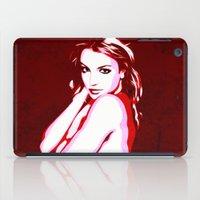 britney spears iPad Cases featuring Britney Spears - Pop Art by William Cuccio aka WCSmack