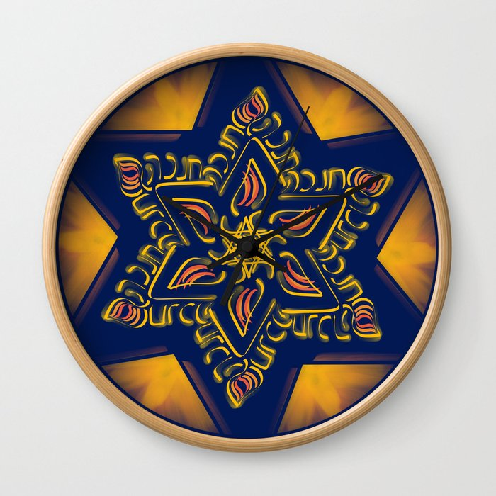 Hanukkah Star of David - 2 Wall Clock