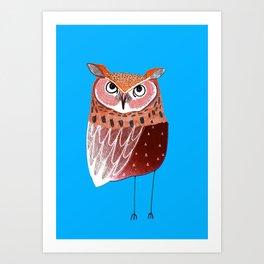 Eared Owl. Art Print