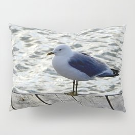 Seagull on dock Pillow Sham