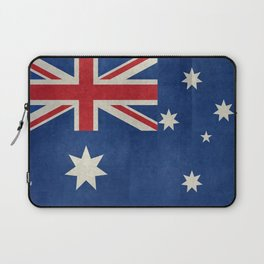 "Australian flag, retro ""folded"" textured version (authentic scale 1:2) Laptop Sleeve"