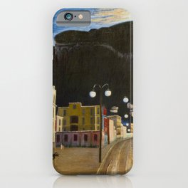 Castellammare di Stabia, Bay of Naples, Italy panoramic portrait by Csontváry Kosztka Tivadar iPhone Case