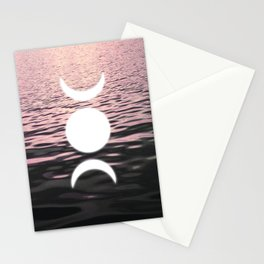 Moon at Sunset Stationery Cards