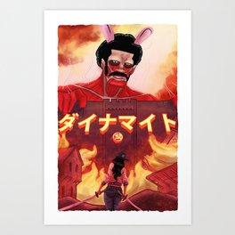 Attack On Bunny Dynamite Art Print
