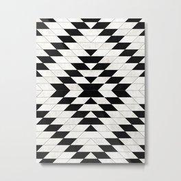 Urban Tribal Pattern No.15 - Aztec - White Concrete Metal Print