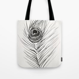 Peacock Feather – Black Palette Tote Bag