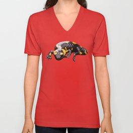 Fire salamander Unisex V-Neck